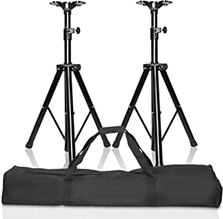 EMART Adjustable Height Speaker Stands, Professional Heavy Duty Tripod Structure Holds Weight up to 132 lbs, Extend from 38 to 71 inch DJ PA Speaker Stands
