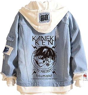 Tokyo Ghoul Denim Felpa Con Cappuccio Giacca Unisex Casual Loose Fit Manga Kaneki Ken Jeans Cappotto Felpa Tokyo Ghoul Sta...
