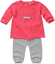 Kids N Color Coral Pink and Grey Baby Knit 2-piece Set Size 12m(hat Not Included)