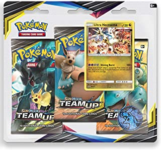 Pokemon TCG: Sun & Moon Team Up, Blister Pack Containing 3 Booster Packs and Featuring Promo Card Ultra Necrozma