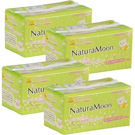 ナチュラムーン(NaturaMoon) 生理用ナプキン 多い日の昼用(羽つき) 高分子吸収剤不使用 ノンポリマー 16個入 4パックセット【医薬部外品】
