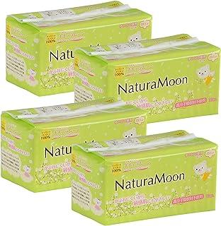 ナチュラムーン(NaturaMoon) 生理用ナプキン 多い日の昼用(羽つき) 16個入 ×4パックセット 高分子吸収剤不使用 ノンポリマー 使い捨て布ナプキン