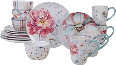Certified International Spring Bouquet 16 Piece Dinnerware Set, Service for 4, Multicolored