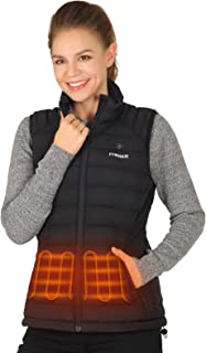 FTVOGUE Lightweight Women's Heated Vest with Battery Pack, Black