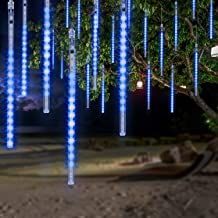 OMGAI Waterproof Meteor Shower Rain Lights - 30cm 8 Tubes Drop Icicle Snow Falling Raindrop Cascading Lights for Party Chr...