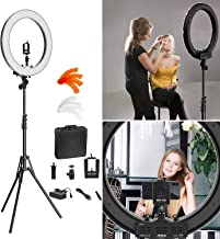 24 Inches Big LED Ring Light with 6 feet Tripod for Camera Smartphone YouTube Video Shooting and Makeup, Stand and Light (with Stand) for tiktok,Musically,vigo and Many More