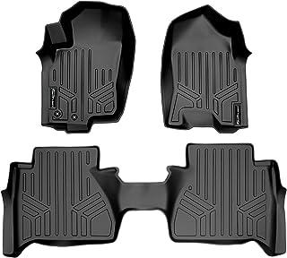 SMARTLINER Custom Fit Floor Mats 2 Row Liner Set Black for 2014-2018 Nissan Navara Crew Cab