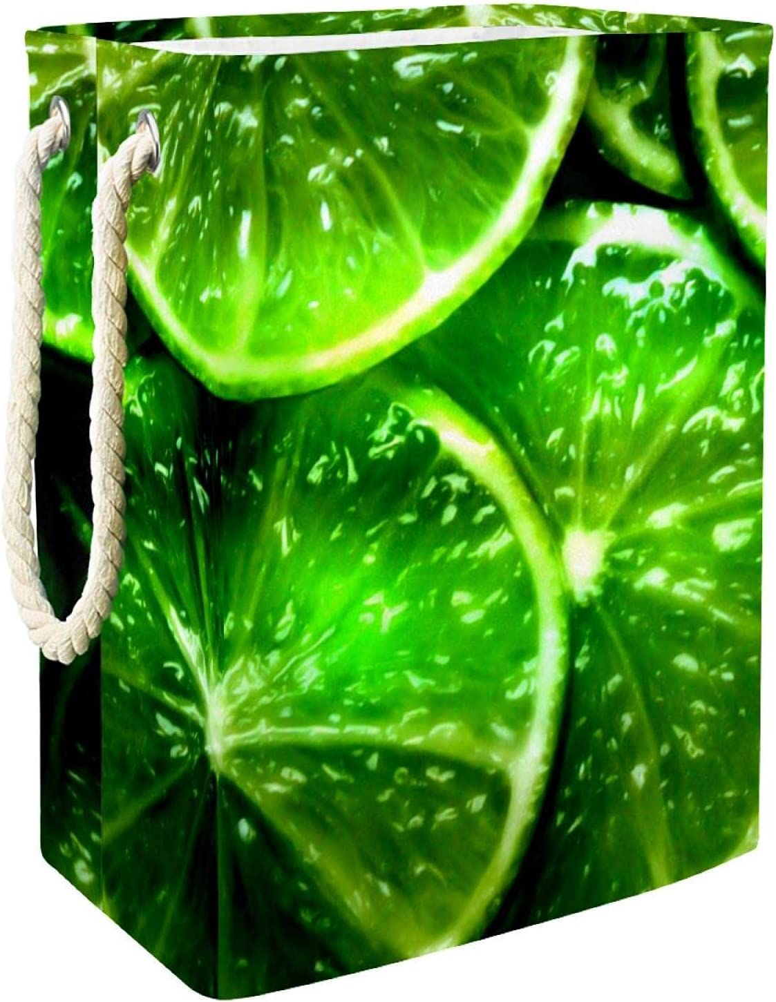 Bright Green OFFer Lemon outlet Laundry Hamper Collapsible With Handles Large