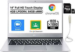 "Acer Chromebook 514, Intel Celeron N3450, 14"" Full HD Touch Display, 4GB LPDDR4, 64GB eMMC, Backlit Keyboard, Google Chrom..."