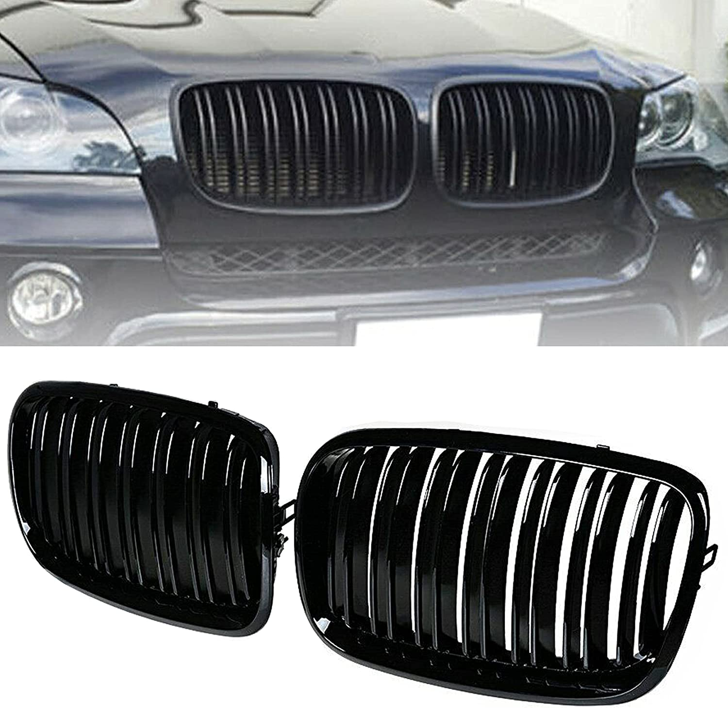 BILLDIO Front Super beauty product restock quality top Bumper Kidney Grille Grill Glossy Clearance SALE! Limited time! Black Compatible