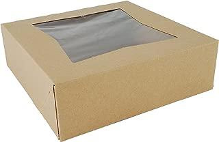 Southern Champion Tray 24013K Kraft Paperboard Window Bakery Box, 8