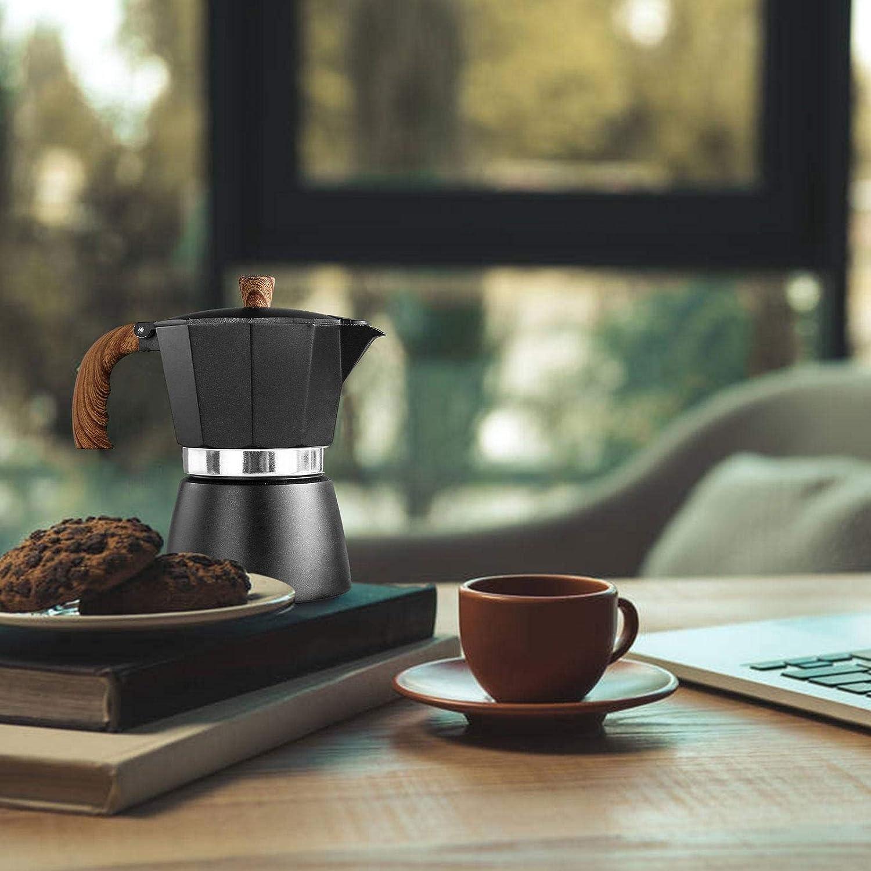 Ceramic Stoves and Gas Stoves 150/300ML Aluminum Coffee Maker Moka ...