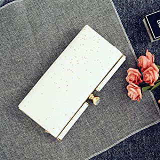 Clutch——Women's Evening Bag, Banquet Clutch, Chain Messenger Bag, Suitable for Party, Wedding, Dating, Perfect Gift for Women (Color : White)