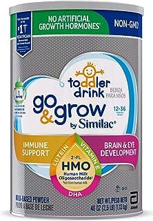 Similac Go & Grow Non-GMO with 2'-FL HMO Milk-Based Powder Toddler Drink 40 oz. ...(4 Pack)