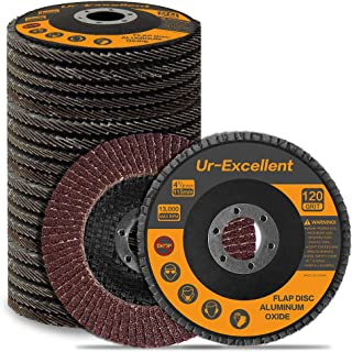 20PCS 115mm Flap Disc - 4-1/2 Inch - Sanding Grinding Wheel for Angle Grinder Type #27 - Aluminum Oxide Abrasive - Assorted 40 60 80 120 Grits…