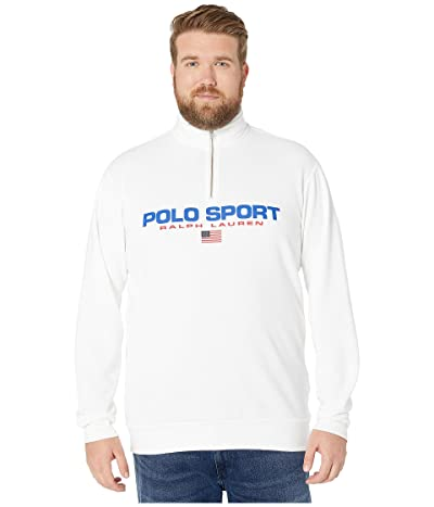 Polo Ralph Lauren Big & Tall Big Tall Long Sleeve Knits Polo Sport Icons (White) Men