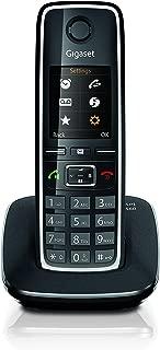 Gigaset C560 Telefono portatile, trasferimento di chiamata, suonerie e rubrica personalizzabili, Vivavoce e display a colori, Nero [Versione Italiana]