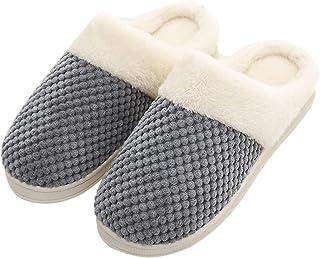 Zapatillas de casa Unisex, Cómodo Antideslizantes Pantuflas Suela de Espuma de Memoria,Slipper Mujer Ligero