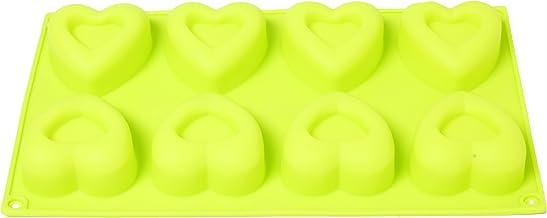 قوالب صابون سيليكون للخبز قوالب شوكولاتة الحلوى أو الصابون قوالب صنع الشمع (8 قوالب التسوس) (ليموني، قلب)