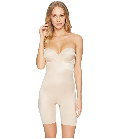 ce98619c210a7 Spanx Suit Your Fancy Strapless Cupped Mid-Thigh Bodysuit at Zappos.com