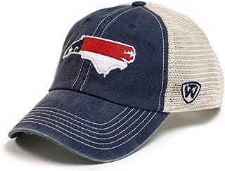 north carolina state outline trucker hat