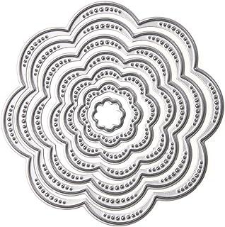 manualidades decoraci/ón de clips de pelo Botones de copos de nieve de cristal de POFET para /álbumes de recortes