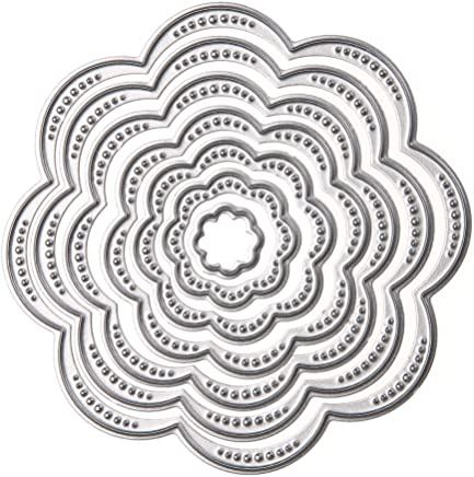 Demiawaking Wave Frame Cutting Dies Stencil for DIY Scrapbooking Album Card Making Embossing Template Home Decor 04