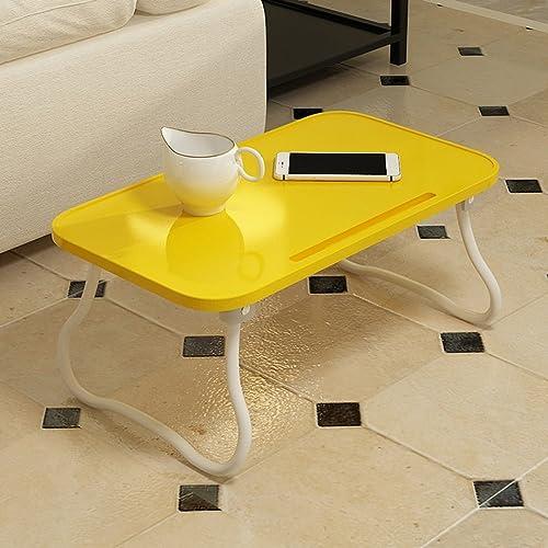 autorización oficial Folding table LVZAIXI Mesa Plegable Plegable Plegable Mesa Cama Habitación Dormitorio Sala de Lectura Sala de Estar Dormitorio Escritorio de la computadora (Color   amarillo)  buen precio