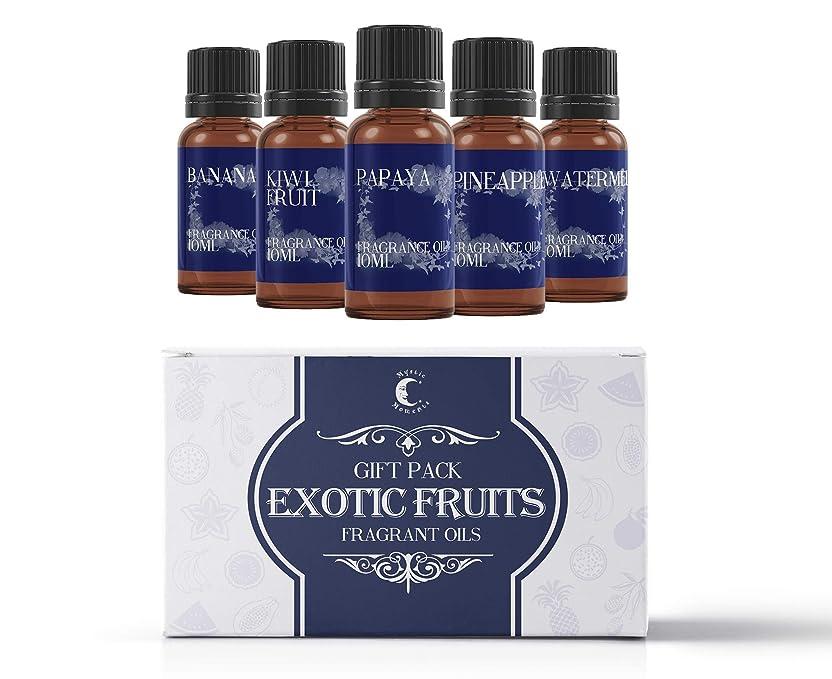 ベーカリーベール汚れたMystic Moments | Fragrant Oil Starter Pack - Exotic Fruit Oils - 5 x 10ml