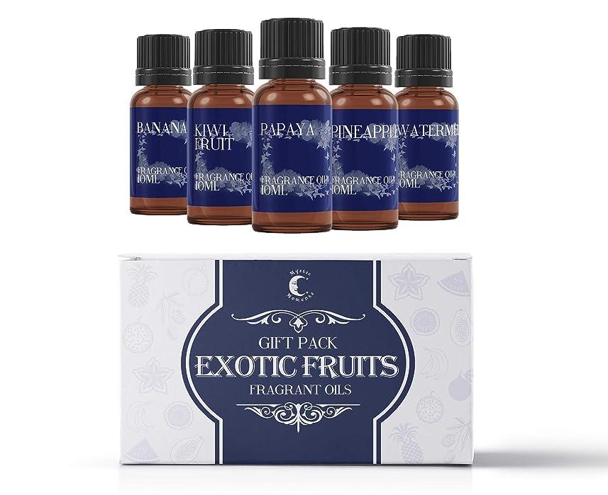 免疫する百万ビザMystic Moments   Fragrant Oil Starter Pack - Exotic Fruit Oils - 5 x 10ml