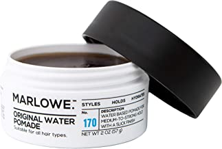 MARLOWE. Original Water Pomade for Men No. 170 | 2 oz | Medium to Strong Hold | Slick Finish | Styles, Holds, Hydrates with Natural Ingredients | All Hair Types