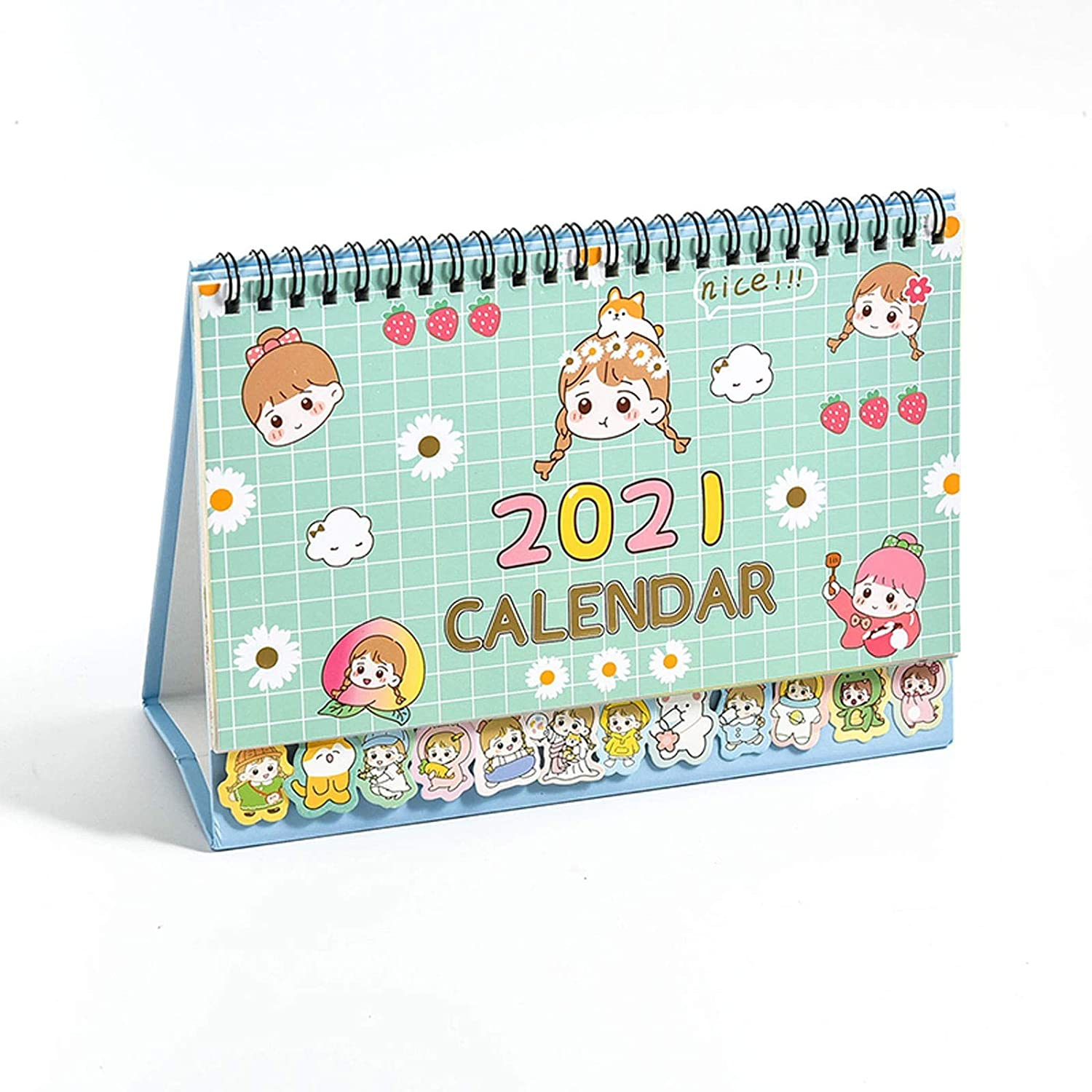 KGDC Calendar In stock Lovely Desk price Pad Monthly 2021: Calend
