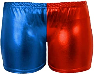 New in Ladies Halloween Cosplay Harley Quinn Shorts Suicide Squad Shiny Hot Pant