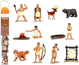 Best Safari Ltd Powhatan Indians TOOB With 12 Historical Figurine Toys, Including a Camp Fire, Powhatan Woman Cooking, a Fox, Stretched Deer Hide, Bear, Review