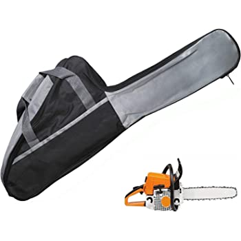Podoy Chainsaw Carry Case Bag 18 inch Bar Chain Cover Woodworking Tools Bag Compatible with Chainsaw Carrying Case Portable Holdall Chain Saw Box Grey