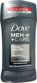 Dove Men + Care Antiperspirant, Cool Silver, 2.7 Ounces each, Pack of 5