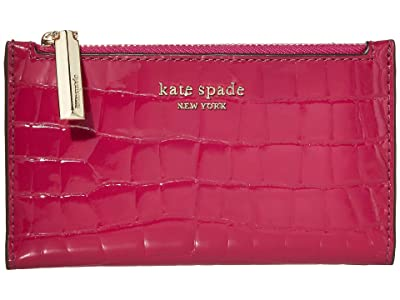 Kate Spade New York Sylvia Small Slim Bifold Wallet (Berry Blitz) Bi-fold Wallet