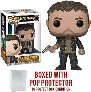 Funko Pop! Movies: Mad Max Fury Road - Max Rockatansky Vinyl Figure (Bundled with Pop BOX PROTECTOR CASE)