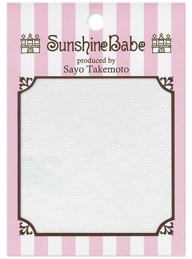 長椅子方程式音節サンシャインベビー ジェルネイル 武本小夜のネイルシール Sayo Style フラワー ホワイト