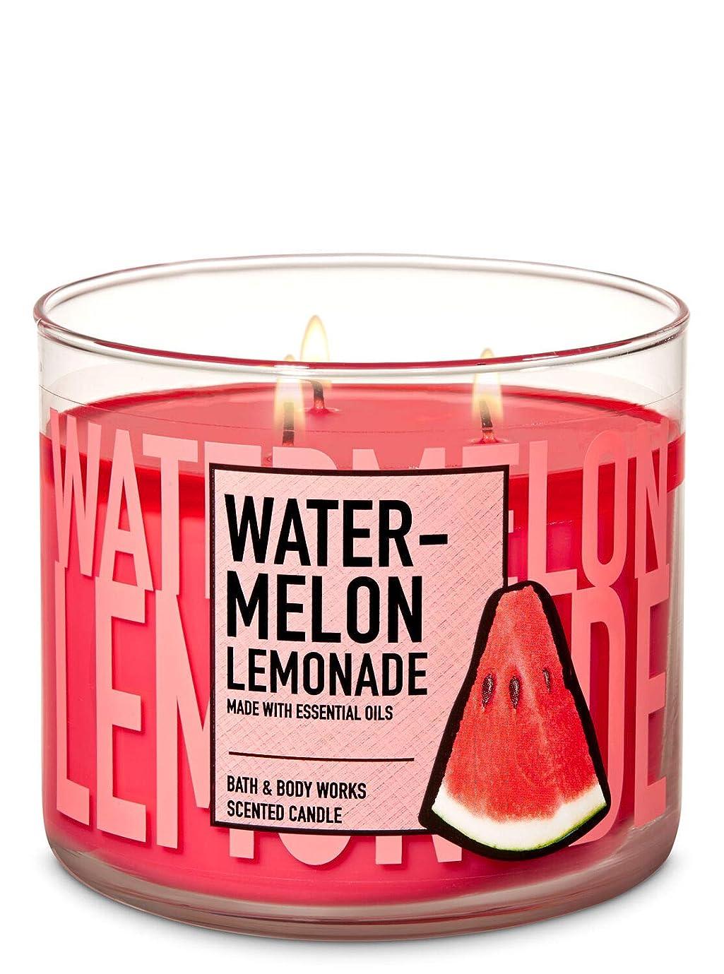 出会い本いつか【Bath&Body Works/バス&ボディワークス】 アロマキャンドル ウォーターメロンレモネード 3-Wick Scented Candle Watermelon Lemonade 14.5oz/411g [並行輸入品]
