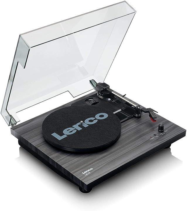 Giradischi lenco (ls-10 black) con diffusori acustici incorporati trazione a cin LS-10 schwarz