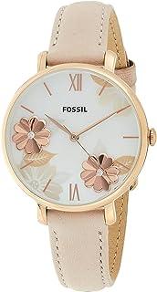 فوسيل ساعة رسمية نساء انالوج بعقارب جلد طبيعي - ES4671