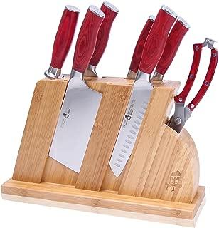 TUO Cutlery TC0710R 8 Pcs Set Red Fiery Phoenix, W/Block