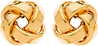 So Chic Jewels - 9k Yellow Gold - 11 mm Knot Stud Earrings