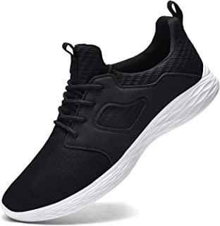 Mens Tennis Shoes Non Slip Breathable Lightweight Slip on Gym Running Walking Sneakers