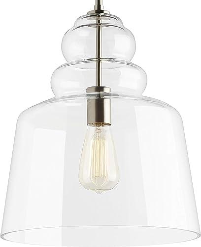 popular Sea outlet online sale Gull Lighting 6513501-962 Agatha Pendant sale Hanging Modern Fixture, One - Light, Brushed Nickel sale