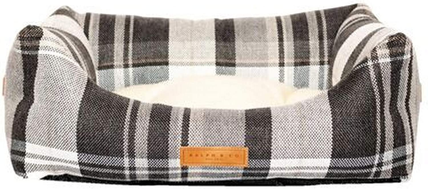Ralph & Co Marlow Tweed Fabric Nest Dog Bed