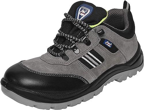 Allen Cooper 1156 Men's Safety Shoe, Size-11 UK, Grey (1 Pair Free Socks)