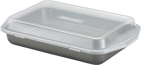 Circulon 57968 Total Nonstick Baking Pan With Lid / Nonstick Cake Pan With Lid, Rectangle - 9 Inch x 13 Inch, Gray