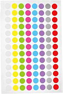 Lab-Tag Cryogenic Labels, Assorted Color 9mm Dots, 520 Labels